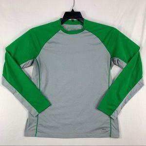 REI Polartec Large Long Sleeve Gray/Green